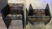 WOWpaper + fabric: Sapience Chair re-do